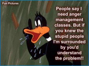 anger managment and stupid people