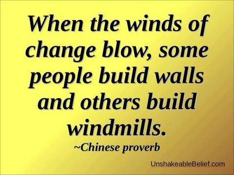 change windmills and walls