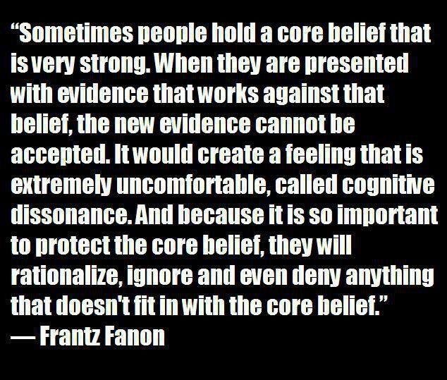 cognitive dissonance and core belief challenges