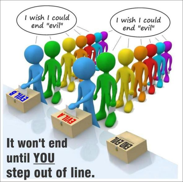 end evil step out of line