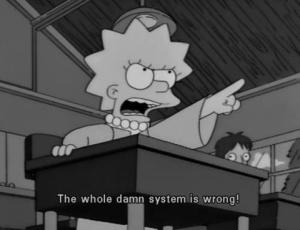 lisa and bart the whole damn system is wrong