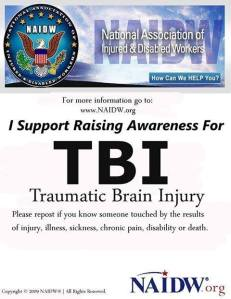 NAIDW TBI AWARENESS