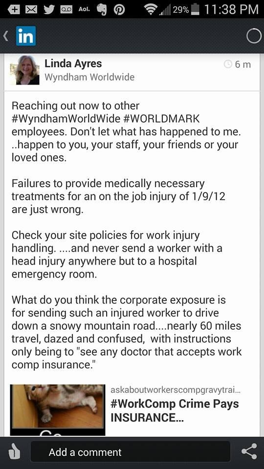 Outreach to Wyndham  10 7 14