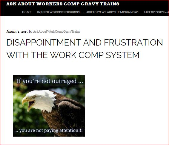 ASK ABOUT WORKERS COMP GRAVY TRAINS   JAN 1 2015