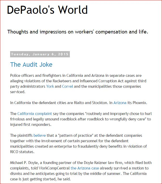David DePaolo blog 1 6 2015  Audit Jokes