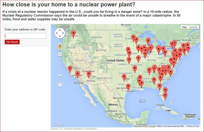 HOW CLOSE IS YOUR HOME TO A NUCLEAR PLANT  OR A NUKE DUMP