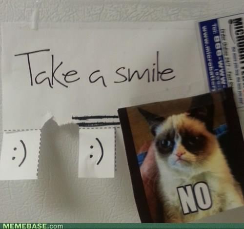 GRUMPY CAT TAKE A SMILE