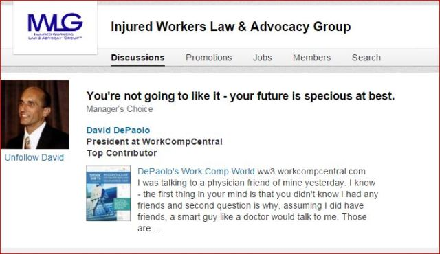 injured workers group comments
