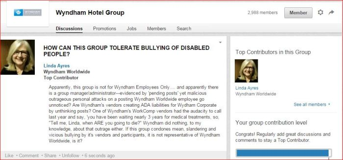 WHG    Disability bullying members  as of 2 19 2015