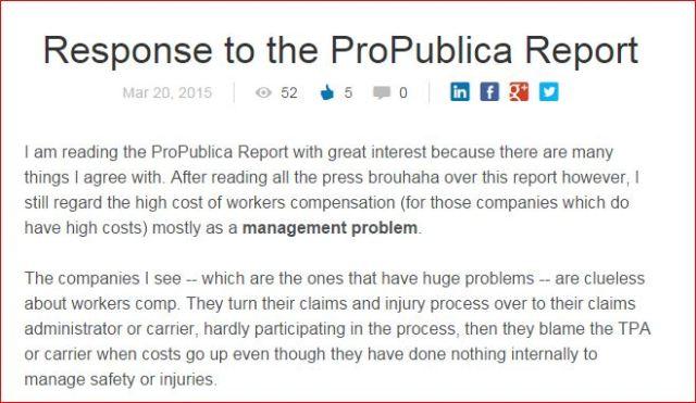 Response to ProPublica