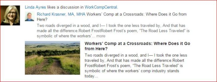 Richard Krasner re WorkComp at a Crossroads  March 2015