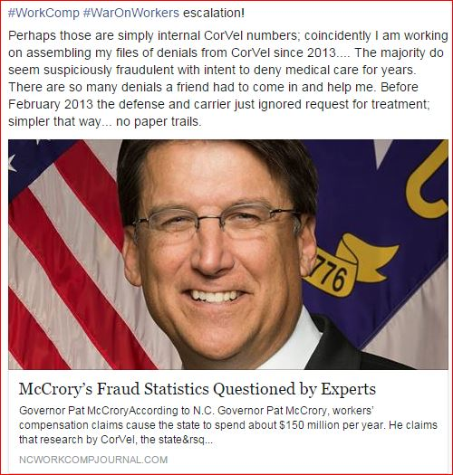 Corvel McCrory Fraud Stats questioned by Experts