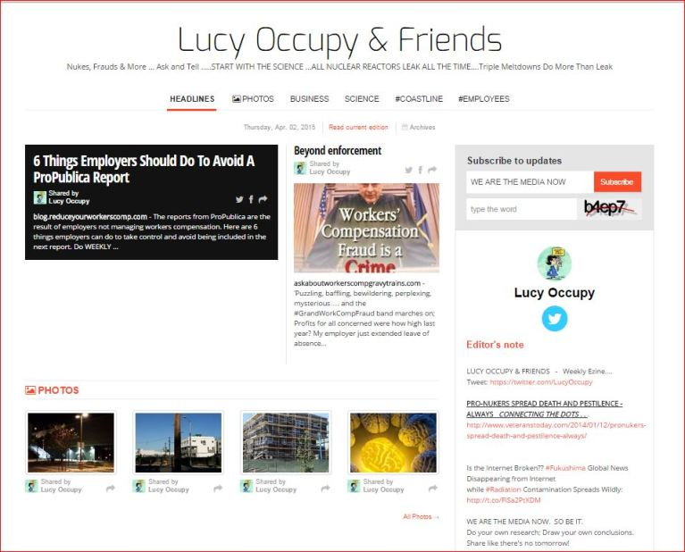 Lucy Occupy and Friends Paper Li April 2 2015