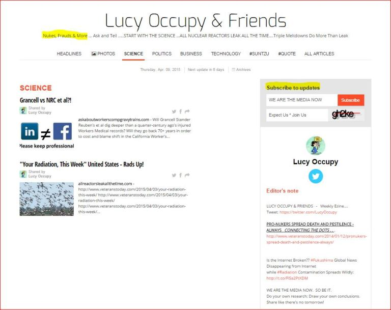Lucy Occupy and Friends Paper Li April 9 2015