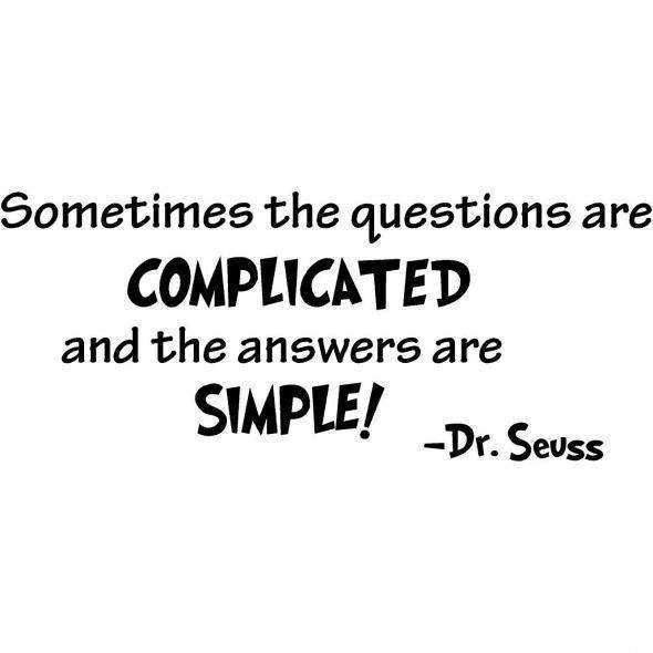questions and answers  complicated and simple