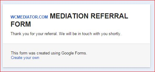 MEDIATION FORM SUBMISSION   7 18 2015  919 AM PDT