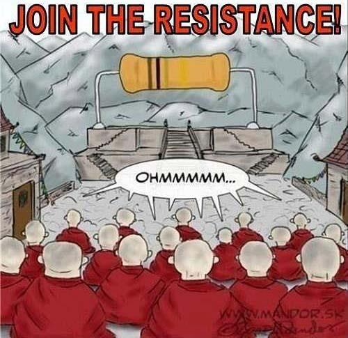 meditate join the resistance