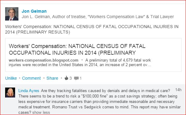 work comp fatalities usa