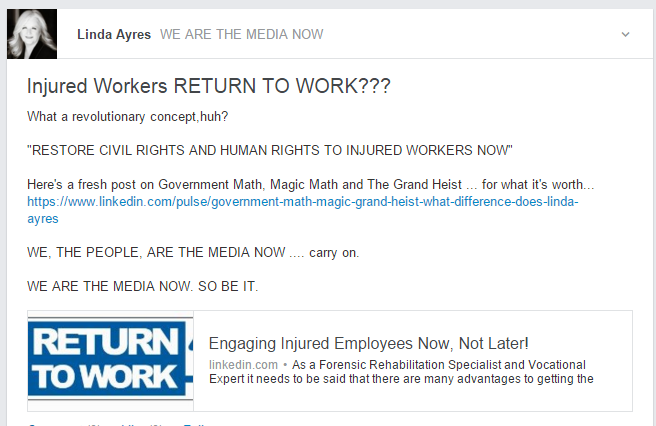 RETURN TO WORK LINKED IN ARTICLE