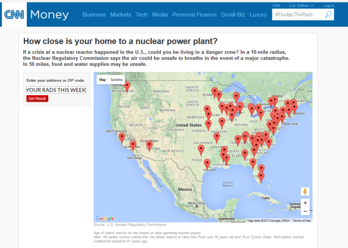CNN how close is your home to a nuclear weapon site