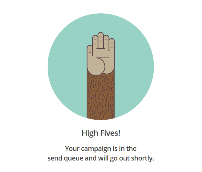 mail chimp high fives
