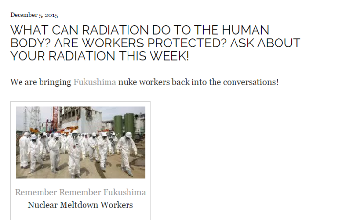 Nuclear Meltdown Workers and WorkComp - Globally