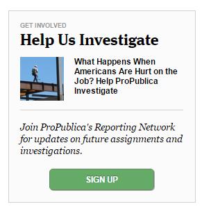 ProPublica help em investigate