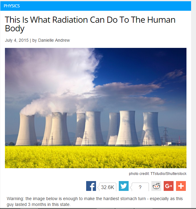 what radiation can do to the human body