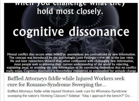 Baffled Attorneys fiddle while injured worrkers seek cure