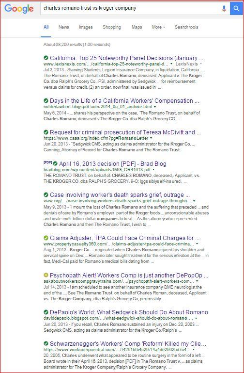 Charles Romano Trust google search 1 21 2016