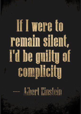 EINSTEIN IF I WERE TO REMAIN SILENT