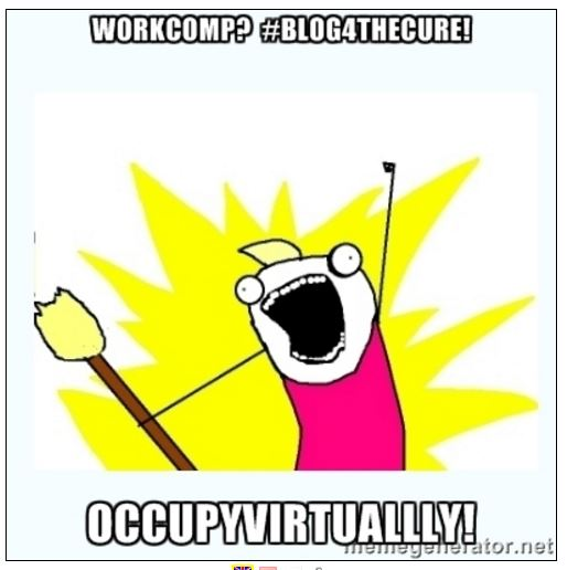 WorkComp Blog4TheCure Occupy Virtually