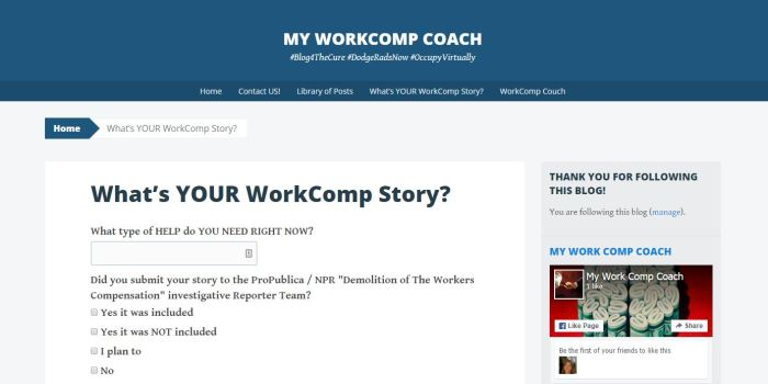 WHATS YOUR WORK COMP STORY 3 8 2016