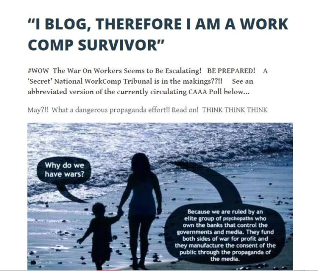 I BLOG THEREFORE I AM A WORK COMP SURVIVOR 2 25 2016