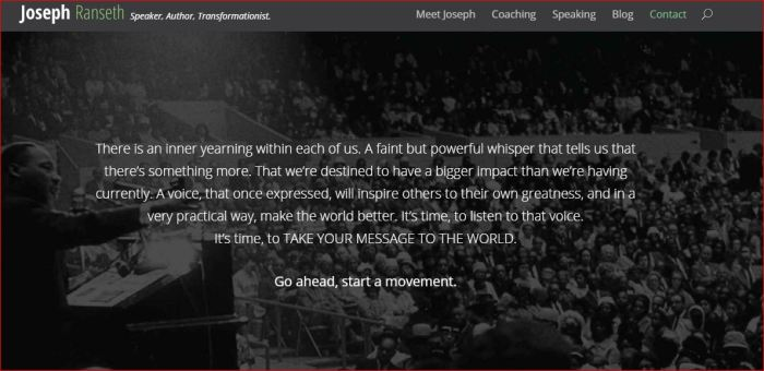 JOSEPTH RANSETH SAYS GO AHEAD - START A MOVEMENT