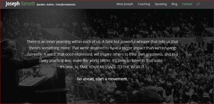 JOSEPTH RANSETH SAYS GO AHEAD - START A MOVEMENT