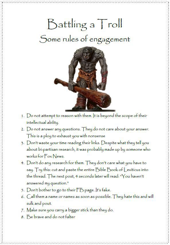 trolls rules of engagement