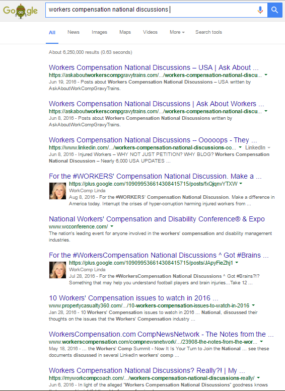 google search workers compensation national discussions 8 19 2016 6 250 000 PAGE 1